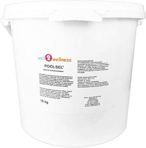 well2wellness® Poolsalz Poolsel für Salzelektrolyse - Salz für Schwimmbäder 15 kg