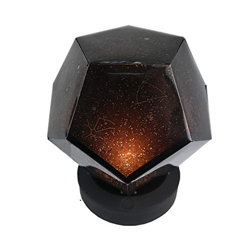 CLX Projektor-Lampe Bunte Led Ocean Wave Licht Romantisches Nachtlicht Entspannen mit Musik Eingang Projektion - Natur Schlafsäcke für Babys Erwachsene Grad drehbaren Stern,Schwarz