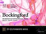 Bockingford St Cuthberts Mill Satin Bloc Encolado A3 12H 300g Blanco Natural, Color (Fila 1)