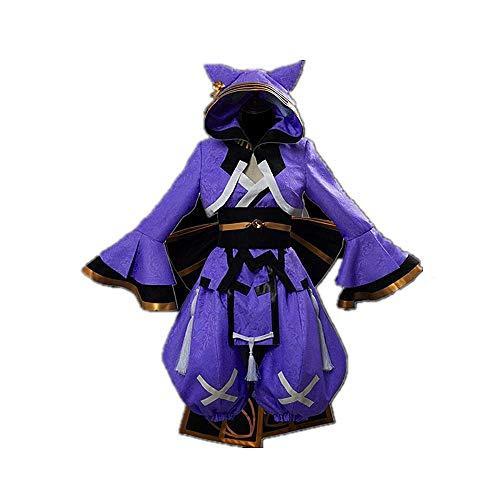 JLCYYSS 6PCS Anime Schicksal/EXTRA FGO Tamamo no Mae Cosplay Kostüm Halloween Karneval Umhang Uniform Anzüge für Frauen Geschenk mit Zubehör Hohe Qualität