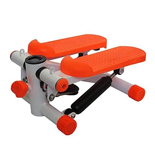 Yongqin Pedal de báscula portátil con pedal portátil con resistencia ajustable, máquina de ejercicios de fitness, pantalla LCD con banda de resistencia, color naranja