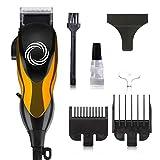 Cortapelos, recortador de barba recargable para hombres/niños/bebé/barbero, inalámbrico con cepillo de peine guía Cable USB-(1set)