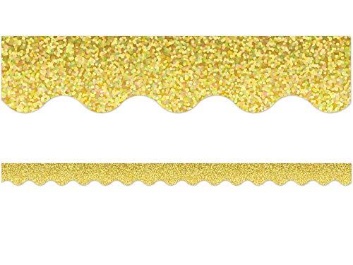 Yellow Sparkle Scalloped Border Trim