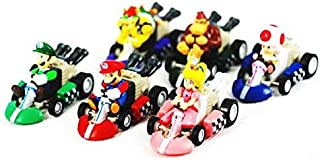 Super Mario Bros Karts Pull Back Cars PVC Action Figure Collection