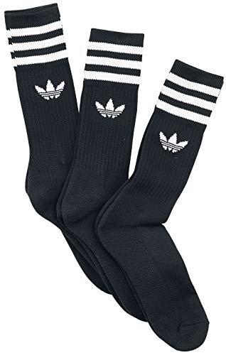 adidas Solid Crew Sock 3 Pack Unisex Socken schwarz/weiß EU 43-46