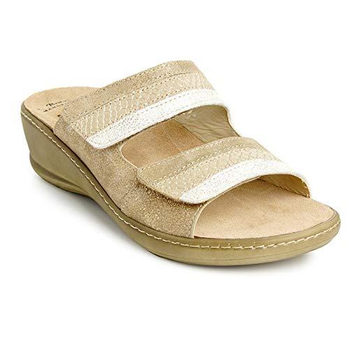 Batz HEDI Licht en Flexibel Handgemaakte Hoogwaardige Lederen Sandalen Klompen Muilezels Slippers Schoenen Dames
