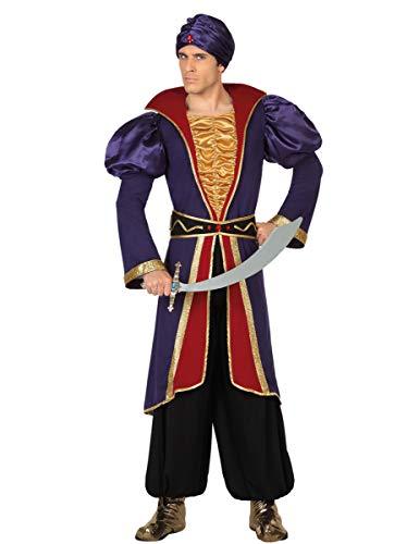 Atosa-28465 Disfraz Príncipe Árabe, color violeta, X l (28465)