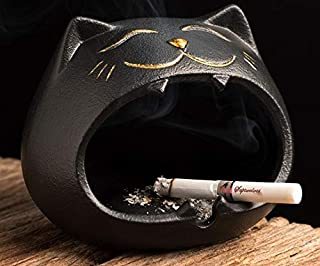 Mopoq Tao fan creative animal cat ashtray ceramic household windproof fly ash car ashtray personality trend small ornaments