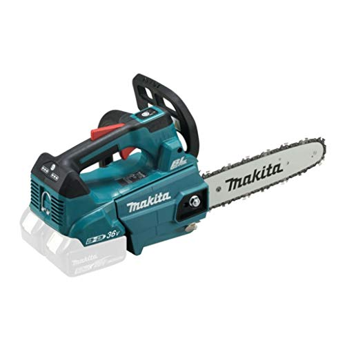 Makita DUC256Z Top Handle - Motosierra (2 x 18 V, sin batería ni cargador), color azul