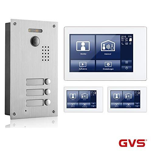 2-Draht-Video-Türsprechanlage, Komplett-Set AVS7038-8068-33L