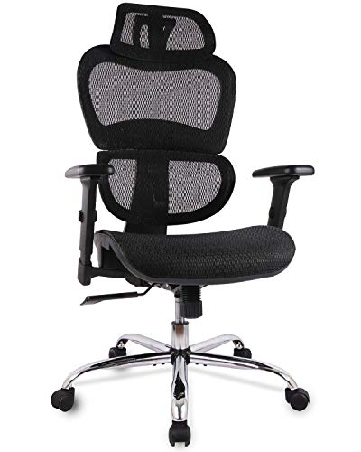 Office Chair Mesh Executive Chair with 3D Adjustable Armrest Ro-tating Chair