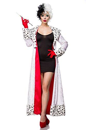 Atixo Evil Dalmatian Lady Kostümset - schwarz/weiß, Größe Atixo:L