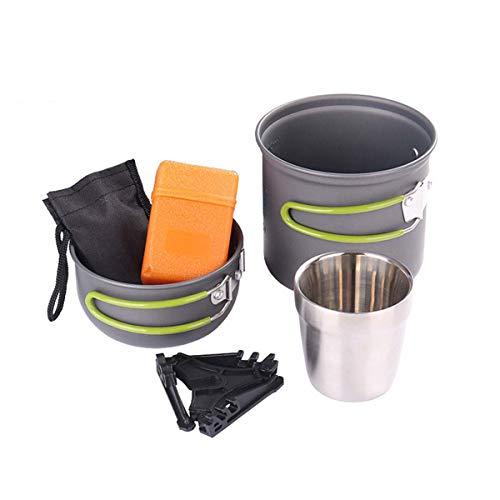 WYDML campingaccessoireset voor 1-2 personen, zonder steel, broodkommen, set voor rugzak en wandelen in de buitenlucht