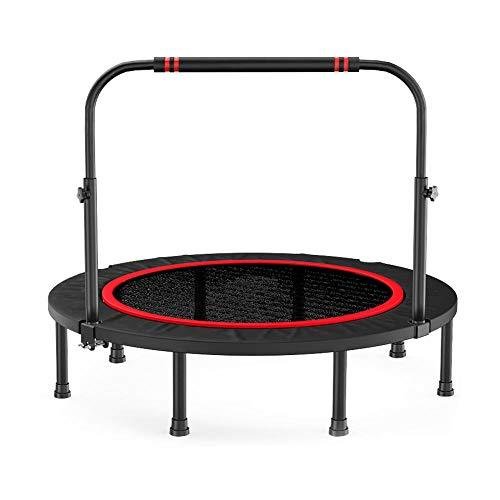 JKHK Trampolín de Fitness para Adultos Mini trampolín Plegable para niños con Barra de de Espuma Ajustable 48/40 Pulgadas en el Gimnasio o en el hogar al Aire Libre