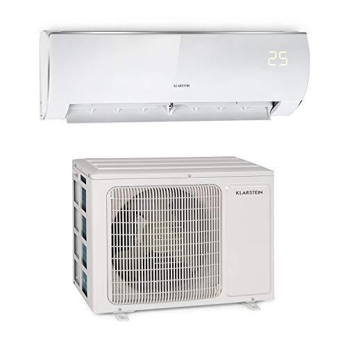 Klarstein Windwaker Eco - Aire acondicionado dividido, Split, Para calor y frío, Eficiencia energética A++/A+, 5 modos, Pantalla LED, Mando distancia, 610 m³/h, 9.000 BTU/h (2,7 kW), Blanco