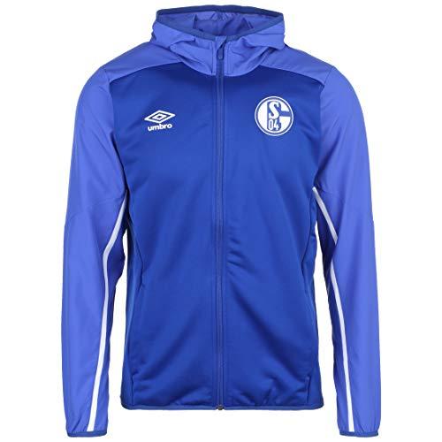 UMBRO FC Schalke 04 Kapuzenjacke Herren blau/weiß, XXL