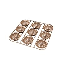 Homankit 高品質の粘りでケーキ型クッキーの種類、困難な材料陽澄マフィンパンケーキ型のオーバルアメリカから輸入された塗料中 碳钢 ゴルド