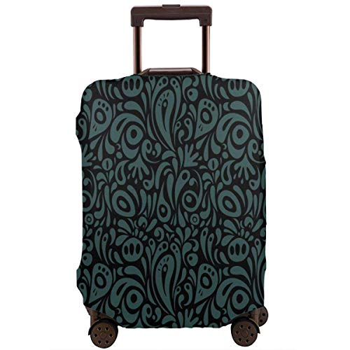 Luggage Cover Protector Damask Seamless Floral Fashion Suitcase Protective Cover,Suitcase Protective Cover,Scratch-Resistant,dust-Proof and Waterproof, Washable,Suitable for 18-32 inches