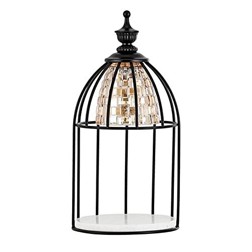 N\C Lámpara de aromaterapia, Vela de de Cera, Calentador de Cristal, lámpara pedregosa, decoración de Mesa de Noche, luz Nocturna para el hogar, Pintura Negra