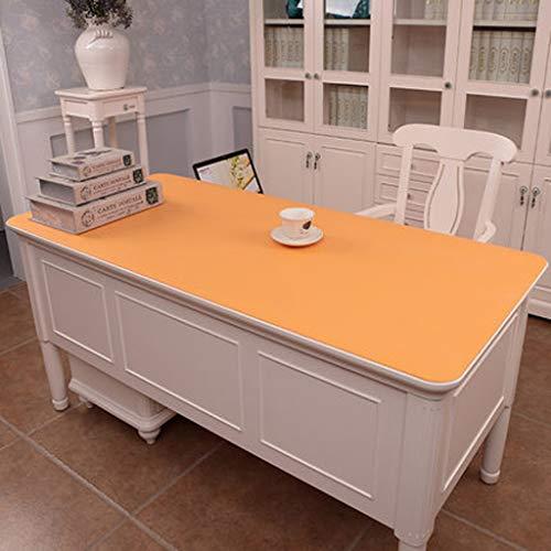 Mantel de mesa para decoración del hogar, hecho de PVC, rectangular, varios tamaños, 5 colores, se puede utilizar al aire libre (color: amarillo, tamaño: 80 x 130)
