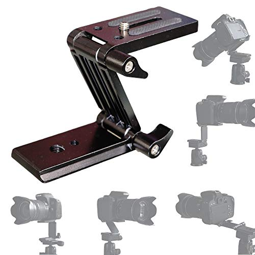 PURAMI Universal Flex Tilt Head Z Mount Bracket with Arca-Swiss and Tripod Quick Release Plate for Camera Slider Rail Cage Rig Gimbal Stabilizer Compatible with DSLR Canon Nikon Sony