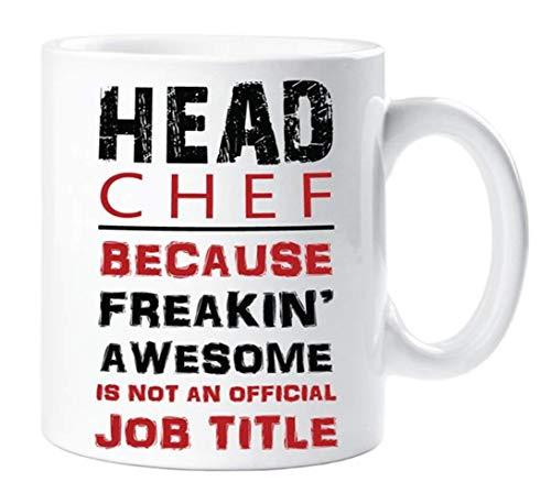 Not Applicable Red Mug Chefkoch, Weil Freakin Awesome Keine offizielle Berufsbezeichnung Ceramic Cup, 11oz Ceramic Coffee Novelty Mug/Cup ist