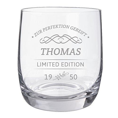"Personello® Whiskyglas mit Gravur, Limited Edition, Name/Jahr/Text personalisiert, graviertes Whiskyglas ""Tumbler"""