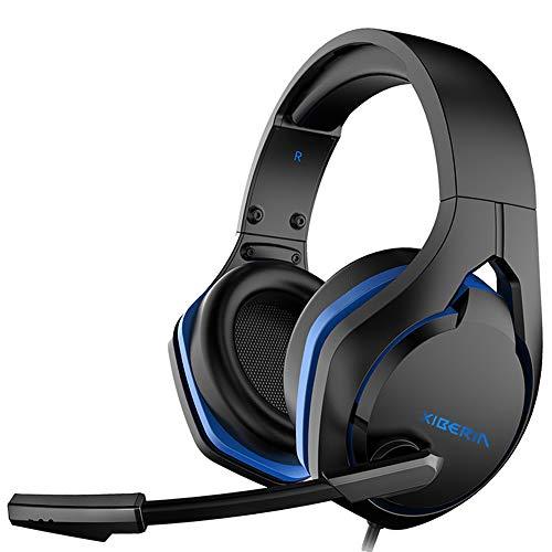 XIBERIA Stereo-Gaming-Headset, In-Line-Steuerung, Gaming-Kopfhörer mit Geräuschunterdrückung, Mikrofon, Flexibler Lautstärkeregler, kompatibel mit PS4/Xbox One/PC/Wii U/Switch/Laptop/Videospiel