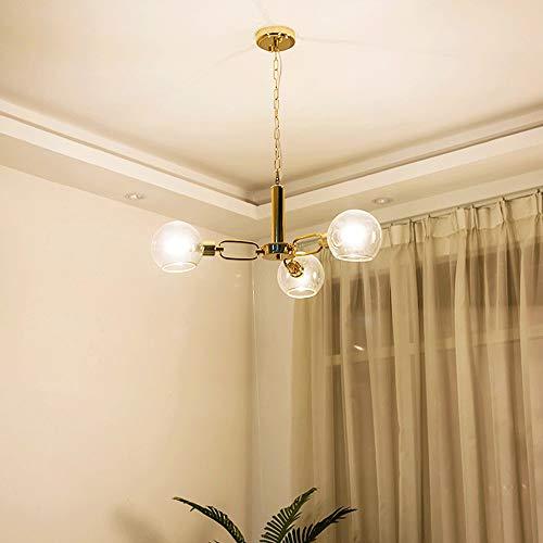 Mlshlf Lamp Creatieve lamp, helder glas, hanger lichtbal, modern, minimalistisch, kroonluchter voor woonkamer, duplex, trap, slaapkamer, restaurant, plafondlamp, Nordic Art, bolletjes van glas, kroonluchter