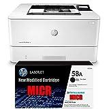 Ampro Laserjet M404N Check Printer MICR Check Printer Bundle with CF258A MICR / 58A MICR Starter Cartridge. (Prints 1500 Pages)