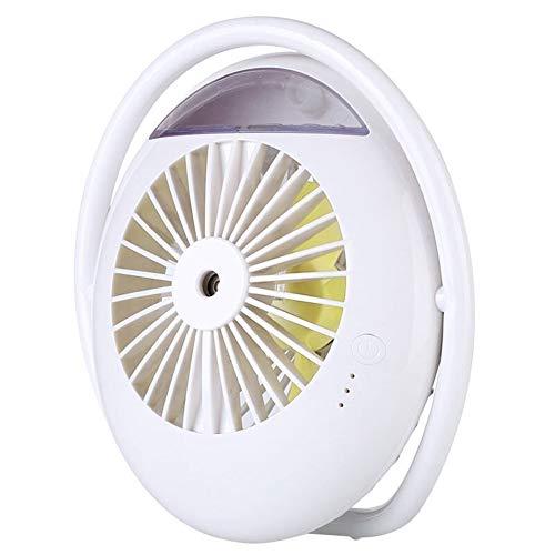 Happy Lemon voordelige mode 2000 mAh accu ventilator mist luchtbevochtiger mini airconditioning waterventilator draagbaar voor thuis in de open lucht, mode, Wit