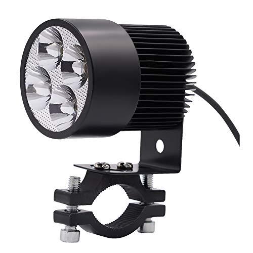 WDFVGEE universal 12 V motocicleta LED luz conducción niebla spot faro 4 LED bombilla Lig para iluminar