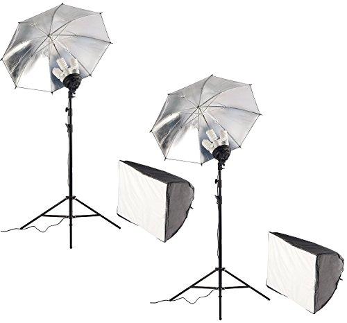 Somikon Studioleuchte: Softbox mit zusätzlichem Reflektorschirm, 2er-Set (Fotobeleuchtung)