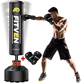 FITVEN Freestanding Punching Bag 70''-205lbs with Boxing Gloves Heavy Boxing..