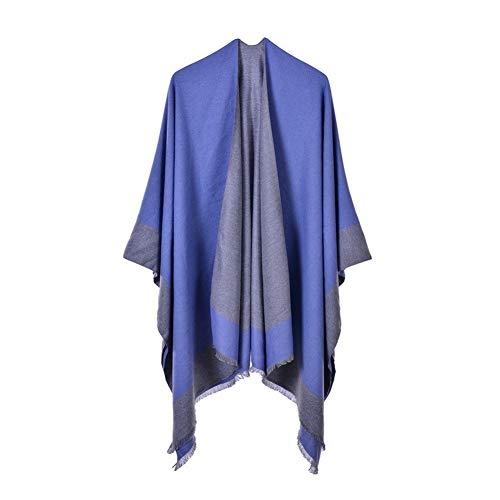 YUFSHU sjaal van kasjmier Solido poncho winterdeken nieuw voor vrouwen en sjaal dik omwikkelen mantel, nonchalant, van hoogwaardig Pashmina Ss-1