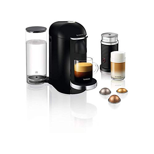 41LNz IZvzL. SS500  - Nespresso, Pod Coffee Machine, Krups, XN902840, Vertuo Bundle, Black, 1260 W