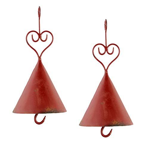 Meisenknödelhalter Nostalgie Metall shabby rot braun dekorativ Preis für 2 Stück