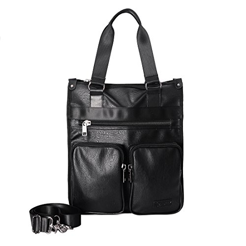 Douguyan borsa a tracolla in pelle per 39,6cm di borsa a tracolla Crossbody Sling da palestra libro borsa per uomini e donne nero Cruz V2 Fresh Foam Medium