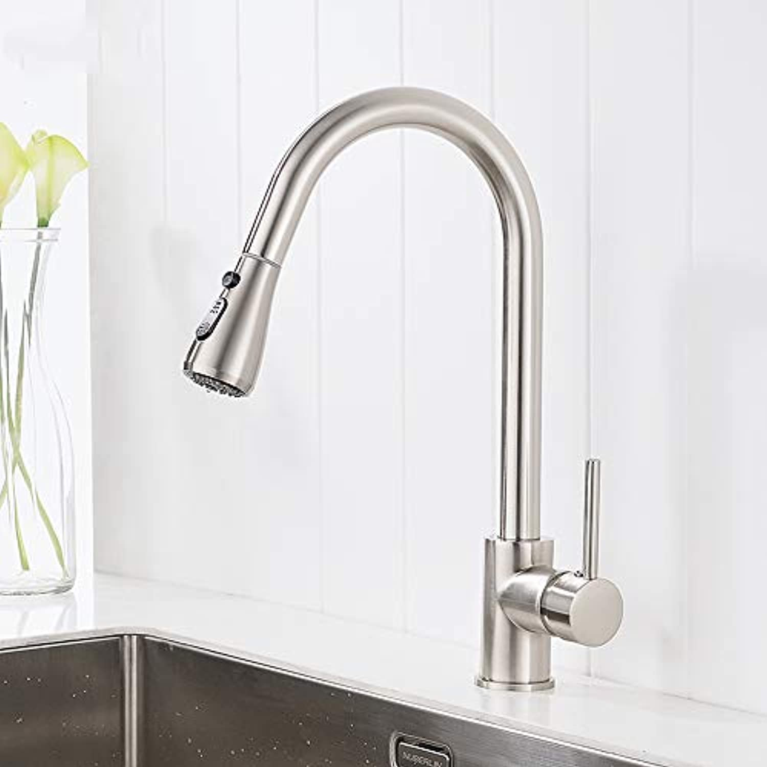 Küchen-Wasserhahn Single Handle Kitchen Faucet Mixer Pull Out Kitchen Tap Single Hole Water Tap Cold And Hot Water Mixer