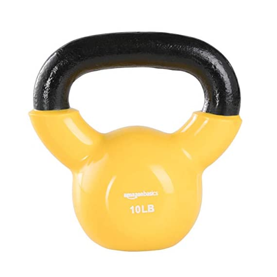 AmazonBasics-Vinyl-Coated-Cast-Iron-Kettlebell-Weight