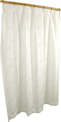アーリエ(Arie) レースカーテン 1枚入り 透けない リーフ柄 洗える 遮熱 ユニチカサラクール 透けにくい 厚地 裏地光沢(ミラー) Lプリュム 幅200cm×丈176cm ホワイト 538741