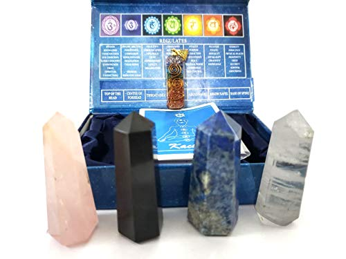 KACHVI Crystals and Stones | Healing Crystals| Reiki Crystals| Chakra Crystals Set| Healing Crystals Gifts Sets|Healing Crystals and Stones Reiki Crystals for Healing | Crystal Gifts Set of 4