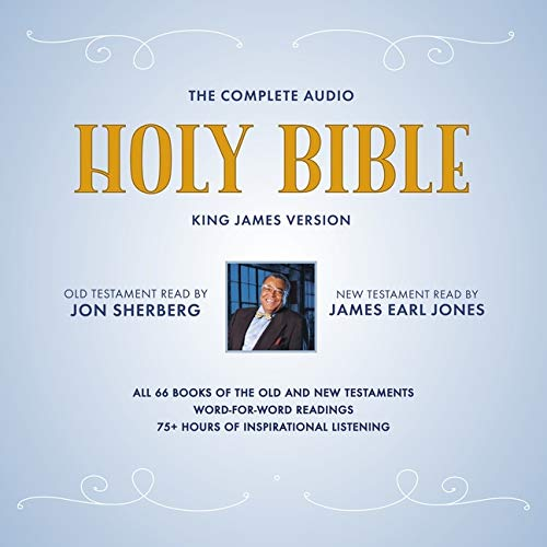 Compare Textbook Prices for The Complete Audio Holy Bible: King James Version: The New Testament as Read by James Earl Jones; The Old Testament as Read by Jon Sherberg Unabridged Edition ISBN 9781094091259 by James Earl jones and Jon Sherberg