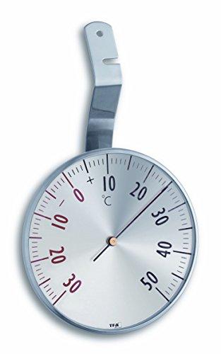 TFA Dostmann Analoges Fensterthermometer, 14.5003, aus Edelstahl zweifarbiger Skala, wetterfest