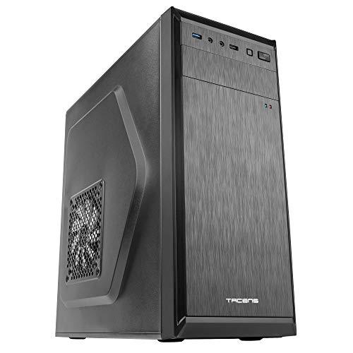 Tacens 2ALUIII, caja de PC, semitorre ATX, ventilador 12 cm, aluminio pulido