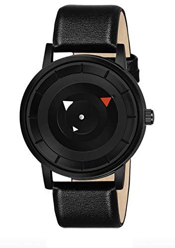 ZAVIO Analogue Men's Watch (Black Dial Black Colored Strap)