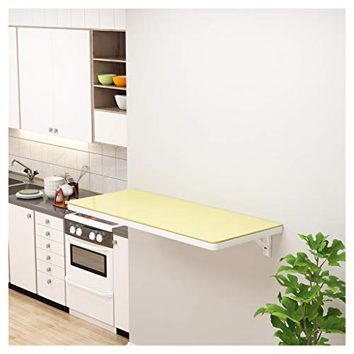 Side Tables Folding Wall Table Floating Computer Table Wall-mounted Workbench Tempered Glass Bearing 60KG Used in Garage Laundry Room Kitchen Small Apartment