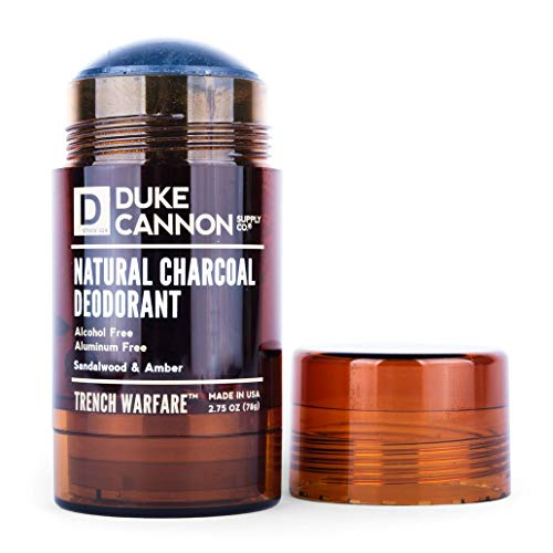 Duke Cannon Trench Warfare Natural Charcoal Deodorant, 2.75 Oz - Sandalwood and Amber/Alcohol-Free, Aluminum-Free