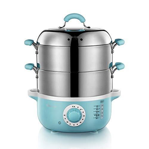 DAGONGREN Vaporizador Eléctrico Multifuncional Para El Hogar Apagado Automático Vaporizador De Alimentos De Acero Inoxidable Espesado Vaporizador Eléctrico