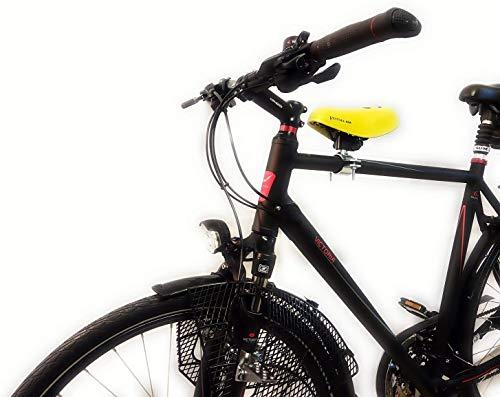 Fahrrad Kindersitz Komplett-Set wie zu DDR Zeiten, Farbe:Schwarzer Sattel, Größe:Damen No.1 - Ø 22-35 mm